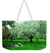 Bench Among.the Blossoms Weekender Tote Bag