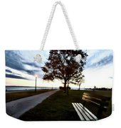 Bench And Street Light Weekender Tote Bag