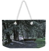 Bench By The Stream II Weekender Tote Bag
