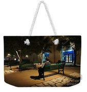 Bench For Reflection In The Night Weekender Tote Bag