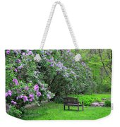 Bench In Lillacs Weekender Tote Bag