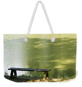 Bench On A Lake Weekender Tote Bag