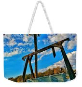 Bench On The River Weekender Tote Bag