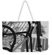 Bench Shadows Weekender Tote Bag