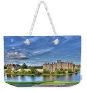 Bench View Of Leeds Castle Weekender Tote Bag