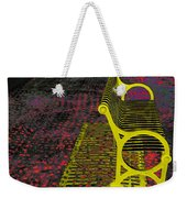 Bench With Gold Shadow Weekender Tote Bag