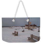 Benches At Sunset Beach Nj Weekender Tote Bag
