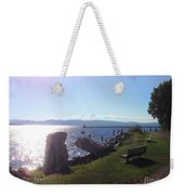 Benches Water Sun And Boat Weekender Tote Bag