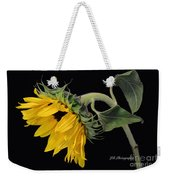 Bending Sunflower Weekender Tote Bag