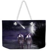 Beneath A Zebra Moon Weekender Tote Bag