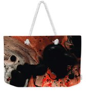 Beneath The Fire - Red And Black Painting Art Weekender Tote Bag