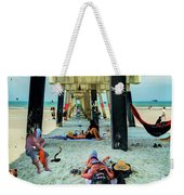 Beneath The Jacksonville Beach Pier  Weekender Tote Bag