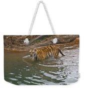 Bengal Tiger Wading Stream Weekender Tote Bag