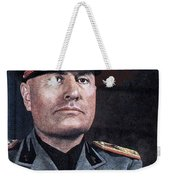 Benito Mussolini Color Portrait Circa 1935 Weekender Tote Bag