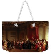 Benjamin Franklin Appearing Before The Privy Council  Weekender Tote Bag by Christian Schussele