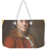 Benjamin Franklin Weekender Tote Bag by Jean Valade