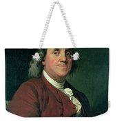 Benjamin Franklin Weekender Tote Bag by Joseph Wright of Derby