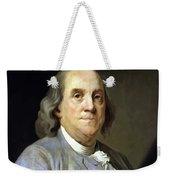 Benjamin Franklin Painting Weekender Tote Bag