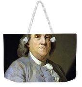 Benjamin Franklin Weekender Tote Bag by War Is Hell Store