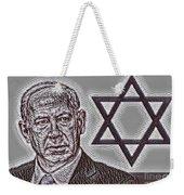 Benjamin Netanyahu With Star Of David Weekender Tote Bag