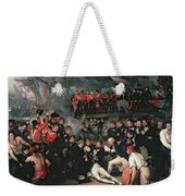 Benjamin West Weekender Tote Bag by The Death of Nelson