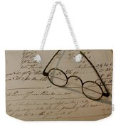 Benjamin's Glasses Weekender Tote Bag