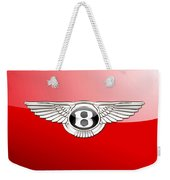 Bentley 3 D Badge On Red Weekender Tote Bag