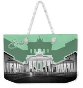 Berlin Brandenburg Gate - Graphic Art - Green Weekender Tote Bag