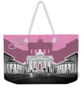 Berlin Brandenburg Gate - Graphic Art - Pink Weekender Tote Bag
