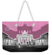 Berlin Brandenburg Gate - Graphic Art - Pink Weekender Tote Bag