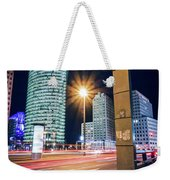 Berlin - Potsdamer Platz Square At Night Weekender Tote Bag