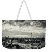Berlin Skyline And Roofscape -black And White Weekender Tote Bag