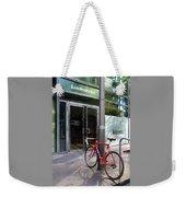 Berlin Street View With Red Bike Weekender Tote Bag
