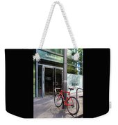 Berlin Street View With Red Bike Weekender Tote Bag