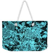 Berlin Traffic Abstract Blue Map Weekender Tote Bag