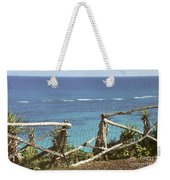 Bermuda Fence And Ocean Overlook Weekender Tote Bag