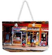 Bernard Barbershop Weekender Tote Bag