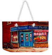 Bernard Fruit And Broomstore Weekender Tote Bag