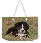 Bernese Mountain Dog Puppy Weekender Tote Bag