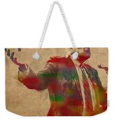 Bernie Sanders Watercolor Portrait Weekender Tote Bag