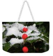 Berries In Snow Weekender Tote Bag