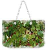 Berries And Leaves 51 Weekender Tote Bag