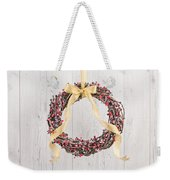 Berry Decorated Wreath Weekender Tote Bag