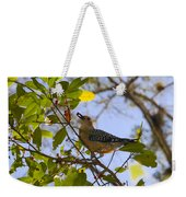 Berry Good Woodpecker Weekender Tote Bag