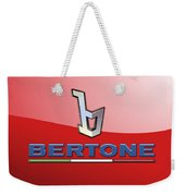 Bertone 3 D Badge On Red Weekender Tote Bag