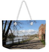 Beside The Thames At Hampton Court London Uk Weekender Tote Bag