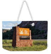 Best Friends Animal Sanctuary Angel Canyon Knob Utah Signage 01 Weekender Tote Bag