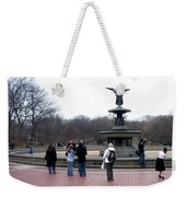Bethesda Fountain Weekender Tote Bag
