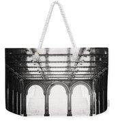 Bethesda Terrace In Black And White Weekender Tote Bag