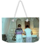 Bethlehem - Milk Grotto Church Lighting Candles Weekender Tote Bag
